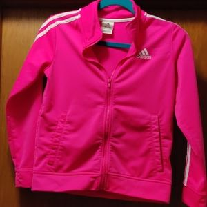 Adidas pink girls zip up